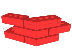 Image 1 Shown is a BIM brick layout.