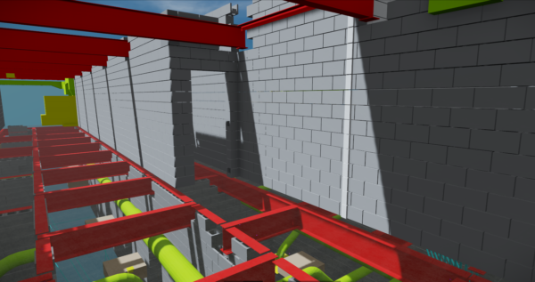 This shows modeling of exterior walls live coordination.